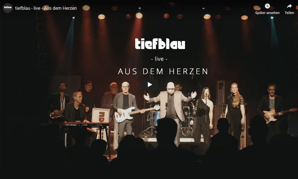 Neues Video online   Aus dem Herzen – live –